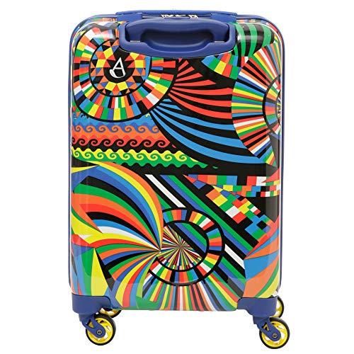 Aerolite Leichtgewicht Polykarbonat Hartschale 4 Rollen Reisegepäck Trolley Koffer Handgepäck Kabinentrolley, Genehmigt für Ryanair, easyJet, Lufthansa, Jet2, Eurowings und viele mehr, Karneval - 5