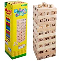 BVM GROUP Wooden 48 Wooden Building Block, Puzzle, Party Game, Tumbling Tower Game