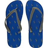 POLO RALPH LAUREN Blue Patterned Flip Flops