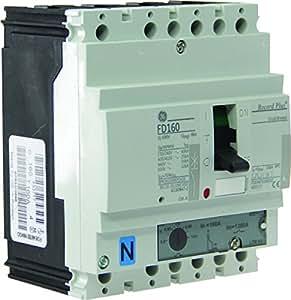 General Electric AUN433717 Disjoncteur boîtier moulé Record Plus FDE 4 Pôles 4D In 160 A Icu 25 kA