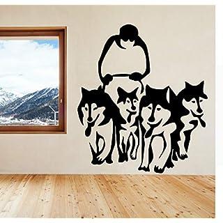 Wuyyii Husky Dog Huskies Schlitten Vinyl Wandkunst Aufkleber Aufkleber Pet Wohnzimmer Adesiv Home Decor Wandaufkleber WandbildB