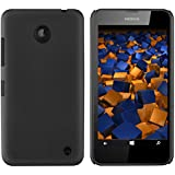 mumbi Schutzhülle Nokia Lumia 630/635 Hülle (harte Rückseite) matt schwarz