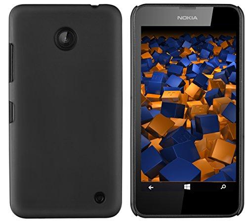 mumbi Schutzhülle für Nokia Lumia 630/635 Hülle (harte Rückseite) matt schwarz