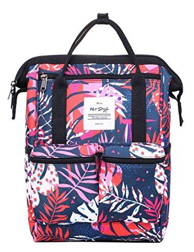 DISA Mini Small Backpacking Purse | Fits 12-inch iPad Pro | 35x23x15cm | Tropische Blätter (Öffnungen Naht Seite)