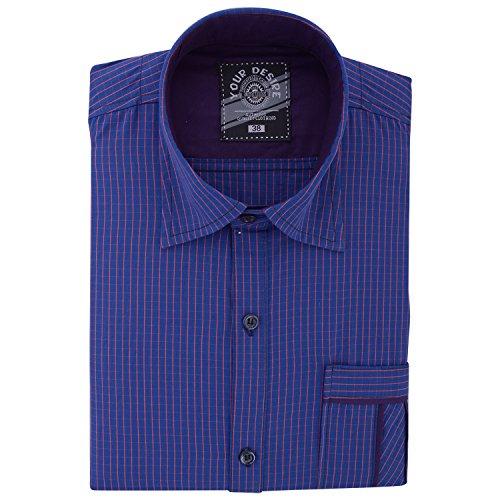 Your Desire Shirts Men Cotton Blue Formal Shirt (Size 42)