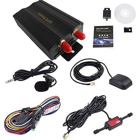POTOBrand, TK103A vehículo coche GPS SMS GPRS Tracker seguimiento en tiempo Real dispositivo