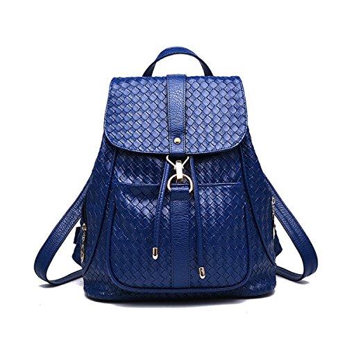 Vintage Reise Tragbare Mehrzweck Frauen Casual Rucksack,Blue-OneSize Laidaye
