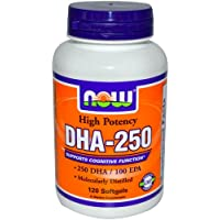NOW Foods - DHA-250 500 mg. - 120 Softgels