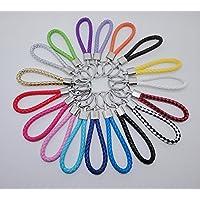 Kangges 10pcs Llavero para Cuerda de cuero tejida a mano Llavero para coche pequeño Decoración del coche / Puerta / Teléfono / Bolsa
