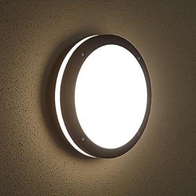 Biard E27 Round Outdoor Bulkhead Wall Security Light Modern Garden Lamp IP54 - low-cost UK light store.