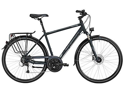 Bergamont Sponsor Disc Herren Trekking Fahrrad schwarz/grau/silber 2016: Größe: 56cm (178-186cm)