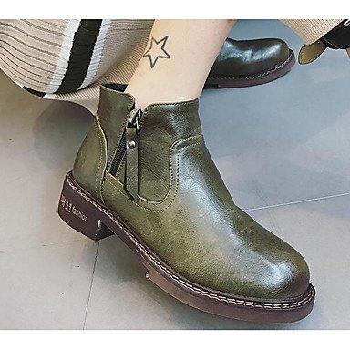 Stivali da donna Comfort Uomo Primavera Casual Comfort Army Green Nero Flat Army Green