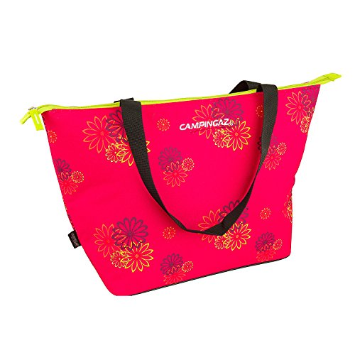 Campingaz Pink Daisy Shopping Cooler - Nevera flexible, 15 l