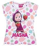 Mascha und der Bär Mädchen T-Shirt - weiß - 116