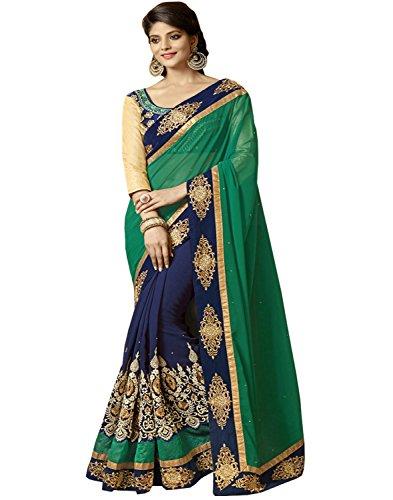 Sareeshop Georgette Saree (Prachigreen-Party Wear Sarees_Green)