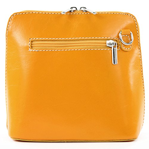 modamoda de -. borsa in pelle ital piccole signore borsa tracolla bag Città bovina T94 Gelb