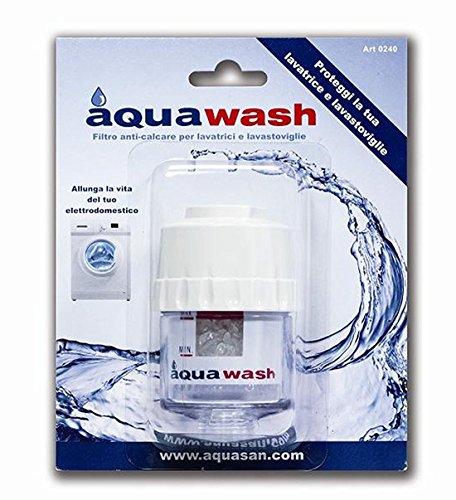 Aquasan 0240 filtro per lavatrice, lavastoviglie anticalcare e antisabbia, trasparente