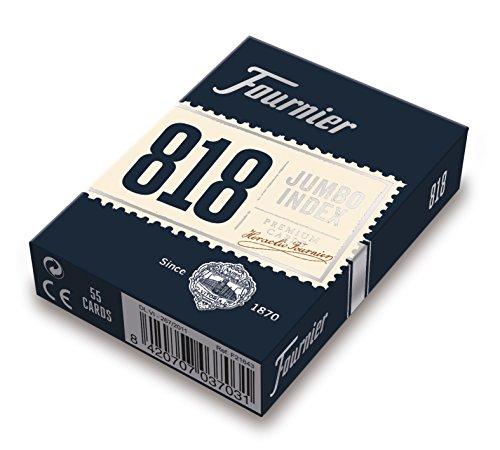 Fournier 818-55 - Baraja Poker en Inglés (55 Cartas), Surtido