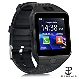 #9: Padraig DZ09 Bluetooth Smartwatch With Camera, Sim Card & SD Card Support for Android/iOS Devices (Gold)