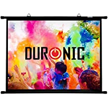 "Duronic (Certified Refurbished) BPS60/43 Simple Bar Wall Mountable HD Projection Screen for | School | Theatre | Cinema | Home Projector Screen - 60"" -4:3 Matte White Screen (Size: 122 X 91cm)"