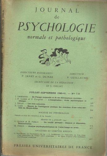 image corporelle déformations morbides - L'exaspération étude psychologique clinique - Les 3 mémoires - Mesure de l'intelligence des membres d'une tribu berbère du moyen atlas