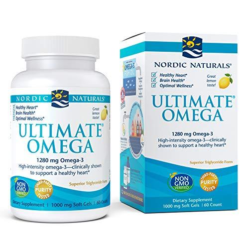 Última Omega, limón, 1.000 mg, 60 geles suaves - Naturals nórdicos
