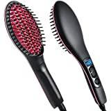 Qualimate Simply 2 In 1 Ceramic Hair Straightener Brush