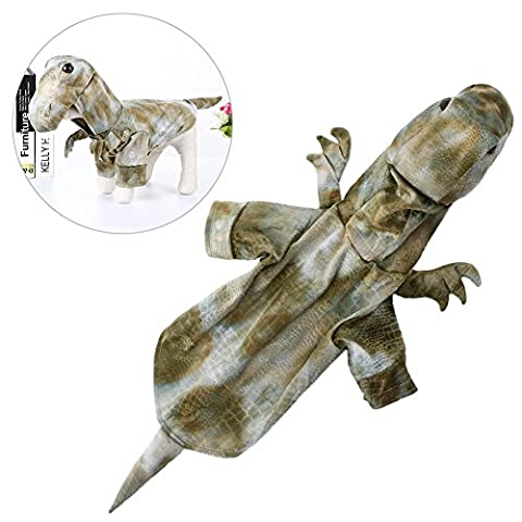 Petacc Hunde Kostüme Halloween/Haustier Weihnachten/Kleidung Hund Schicke Kleidung für draußen/Bekleidung für Halloween und Weihnachten, Dinosaurier Muster, geeignet für kleine (Kleiner Hund Kostüme)