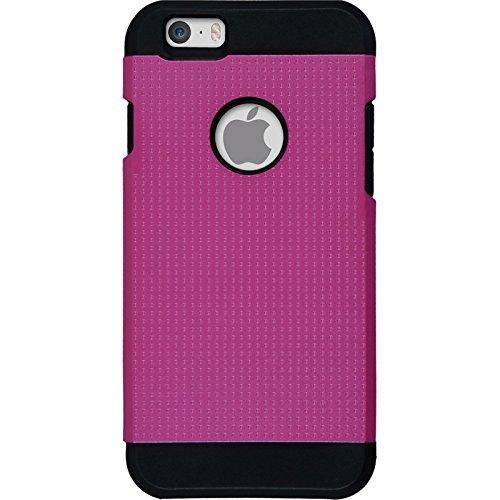 Hybridhülle für Apple iPhone 6s / 6 - ShockProof Holes pink - Cover PhoneNatic Schutzhülle + 2 Schutzfolien Pink