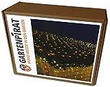 LED Lichternetz 4 x 4 m 360 LED warmweiß Weihnachtsbeleuchtung außen von Gartenpirat®