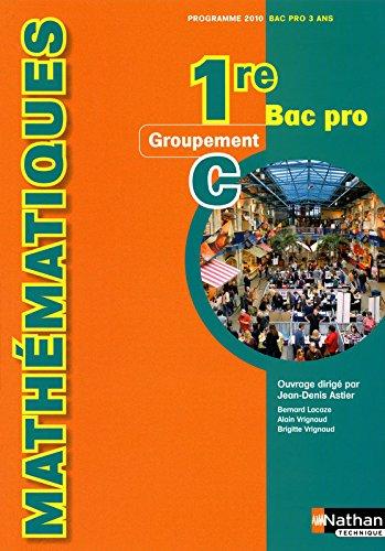 Mathématiques 1re Bac Pro