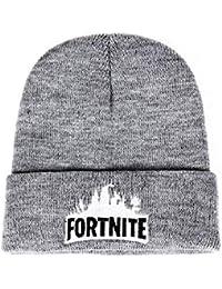 Jping Feliz Fortnite Juego Team Skull Hat, Winter Warm Wide Mesh Slouchy Thick Daily Warm