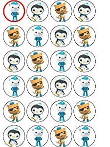 Multi Pack of 24 Edible Octonauts Wafer Cupcake Decorations