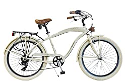 Via Veneto by Canellini Fahrrad Rad Citybike CTB Herren Man Vintage Retro American Cruiser Alluminium (Beige)