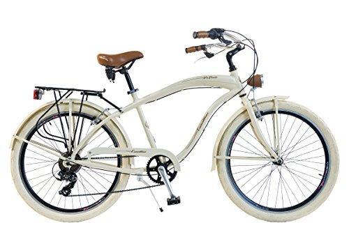 Via Veneto By Canellini Fahrrad Rad Citybike CTB Herren Vintage Retro American Cruiser Alluminium Beige