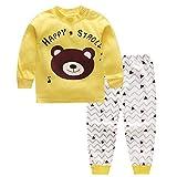 CHIC-CHIC Ensemble Pyjama Vêtements de Nuit Enfant Garçon Fille T-shirt à Manches Longues Top + Pantalon Sport Casual Impression Mignon Animal Ours 18-24mois