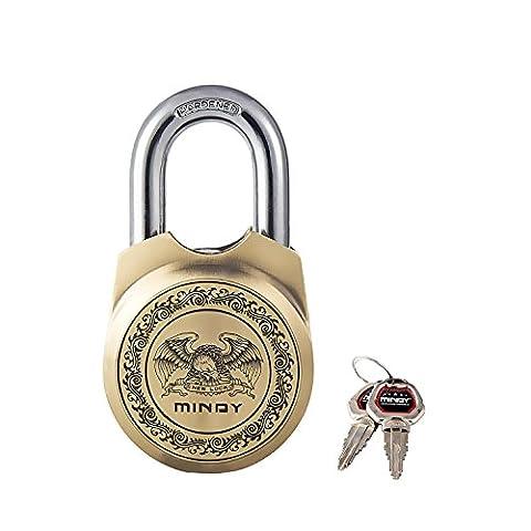 Mindy Antik Vorhängeschloss mit Schlüssel Vintage Look strapazierfähige Kette Lock, A15?65
