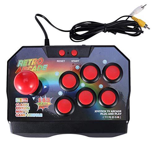 CUHAWUDBA Retro Arcade Spiel Joystick Spiel Controller Av Stecker Gamepad Konsole Mit 145 Spielen Für Tv Klassisch Edition Tv Spiel Konsole
