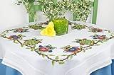 Kamaca Stickpackung LUSTIGE EULEN Kreuzstich vorgezeichnet aus 100% Baumwolle Tischdecke 80 x 80 zum Selbersticken