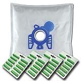 40 x Mr.Clean Staubsaugerbeutel + 40 Duftstäbe geeignet für Miele Black Diamond Blue