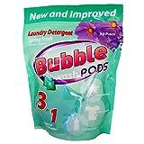 Bubble Washpods HE High Efficiency Liquid Laundry Detergent Soap (Spring Fresh) - 30