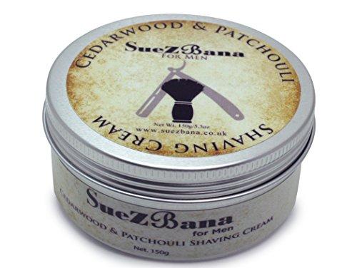 suezbana para hombre madera de cedro y Pachuli Crema de afeitado (150g)