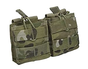 CONDOR MA24-008 Double Open Top M14 Mag Pouch MultiCam