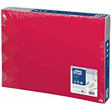 Tork 477455 Manteles individuales Retro Oxford, rojo, 500 unidades (31 x 42 cm)