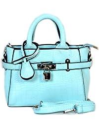 Bagris Attractive Plus Trendy Look Designer Blue Leather Hand Messenger Bag For Women & Girls GE01001448