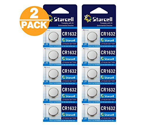Act 10 Lithium Knopfzelle, CR1632, 5er-Pack