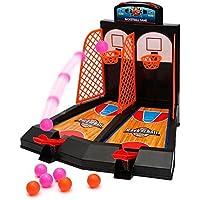 Aidle Mini Juguetes de Baloncesto de Escritorio, Juego de Baloncesto de 1 o 2 Jugadores, Regalos para Niños Adultos- Ayuda a Reducir el Estrés(Modo 2)