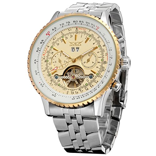 Forsining Men\'s Automatic Tourbillon Complete Calendar Wrist Watch JAG034M4T1