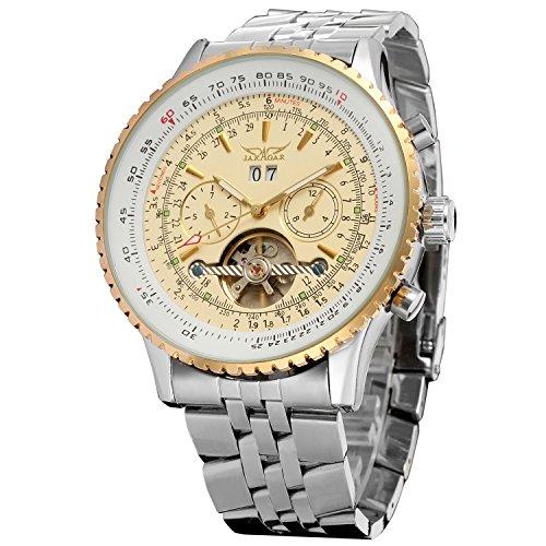 Forsining Men\'s Automatic Tourbillon Complete Calendar Wrist Watch JAG034M4T1