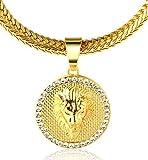 Halukakah Kings Landing Männlich In 18 Karat Vergoldetete Krone Löwe Anhänger Halskette mit Kostenloser Fischschwanz 30